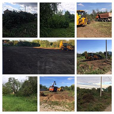 благоустройство и расчистка террритории, спил деревьев в Тульской, Калужской и Московской области