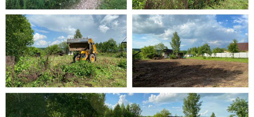 подготовка участка под строительство, расчистка и планировка участка